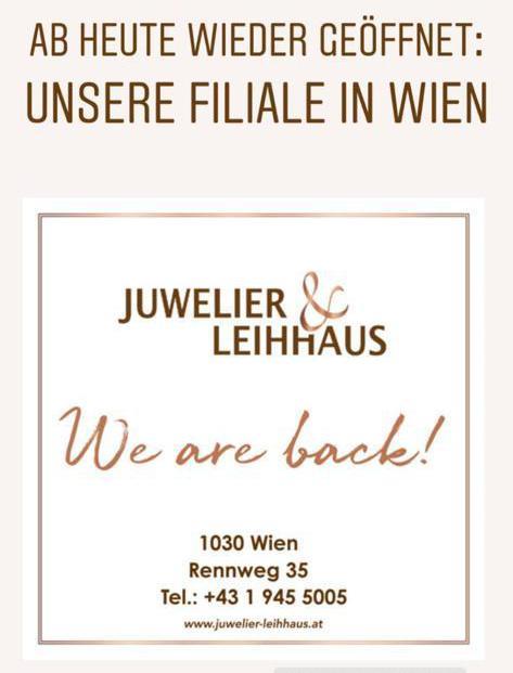Juwelier Leihhaus Wien 14.04.2020 wieder offen Corona